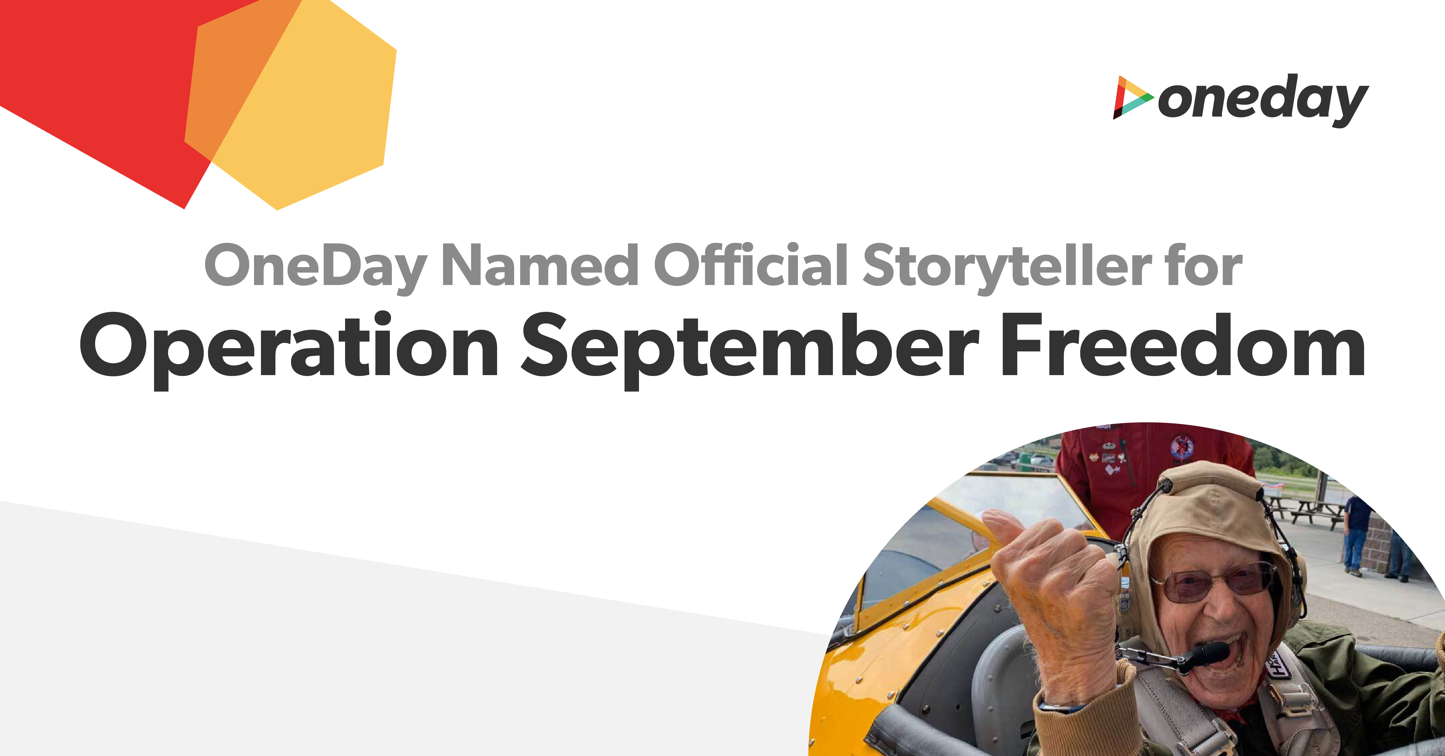 Nonprofit Dream Flights is pleased to announce a new national partner, OneDay, a Dallas-based technology company best known for video storytelling within senior living communities.