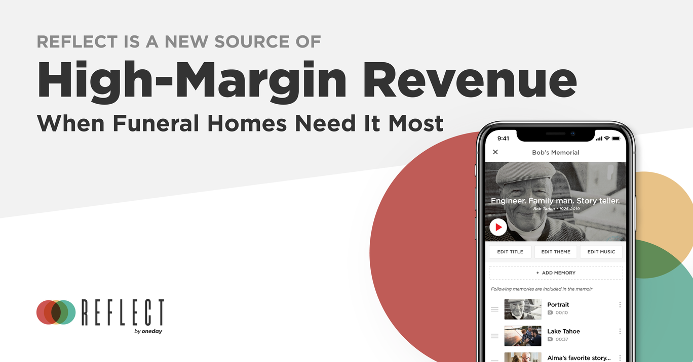 Our ROI calculator demonstrates the high-margin incremental income funeral homes can expect when adding Reflect by OneDay into their services.
