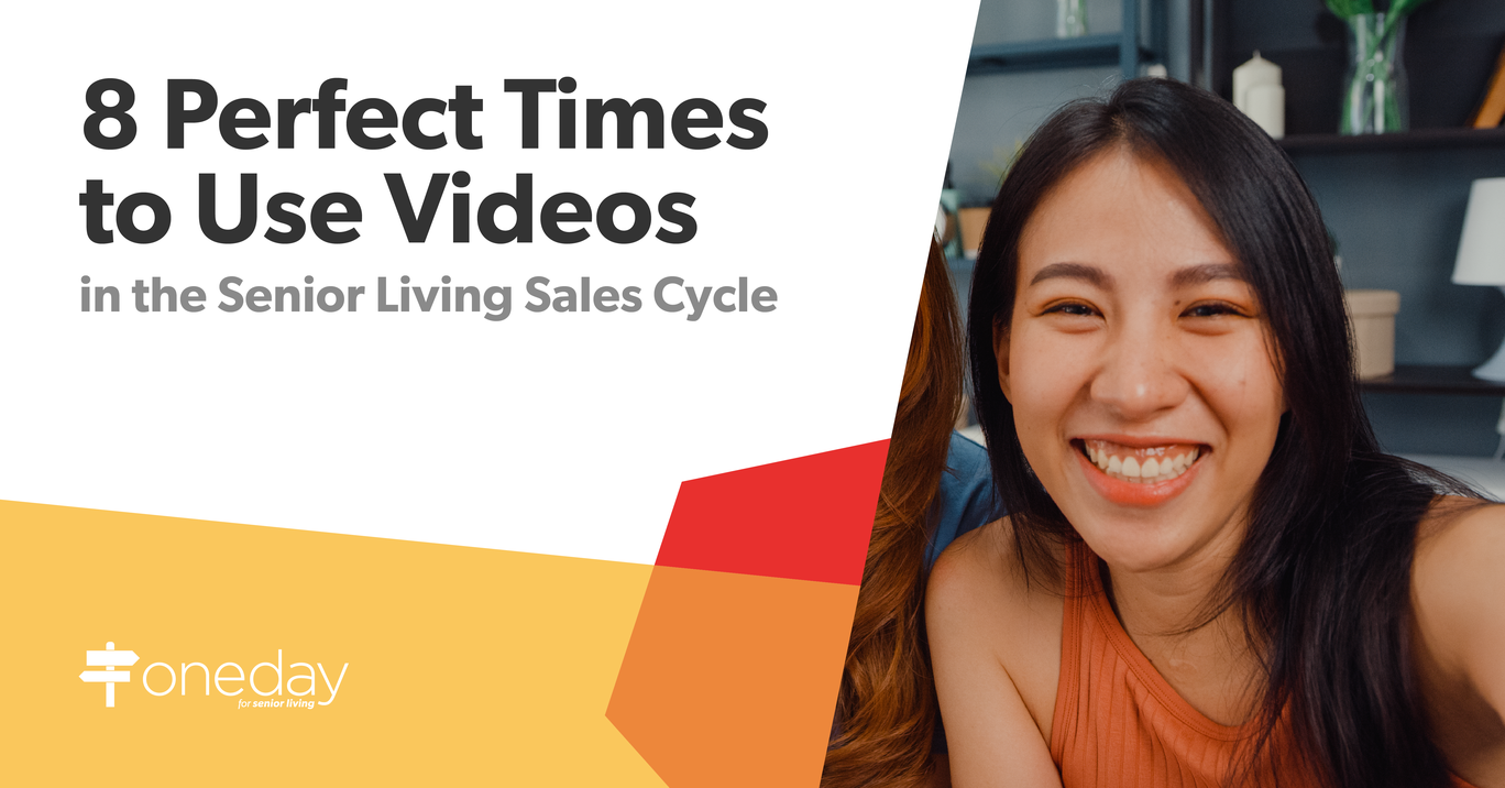 Tips on using video content across your senior living community sales cycle to build momentum and keep your prospects engaged.